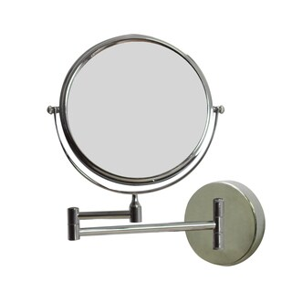 Extendable Wall Mount 2x Magnifying Makeup Mirror By