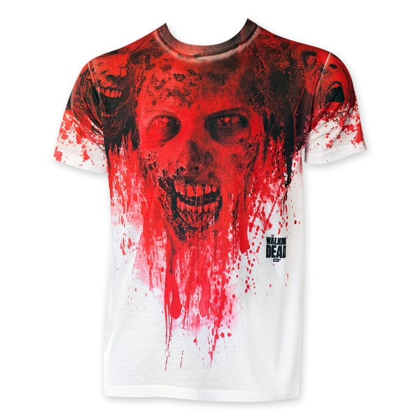 Walking dead sublimated mens white blood zombie tee shirt 337fb40c ae2d 4ecd 8bbd 05dfab2e155b 600