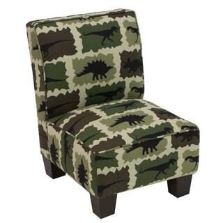 Skyline Furniture Kids Slipper Chair In Camo Green