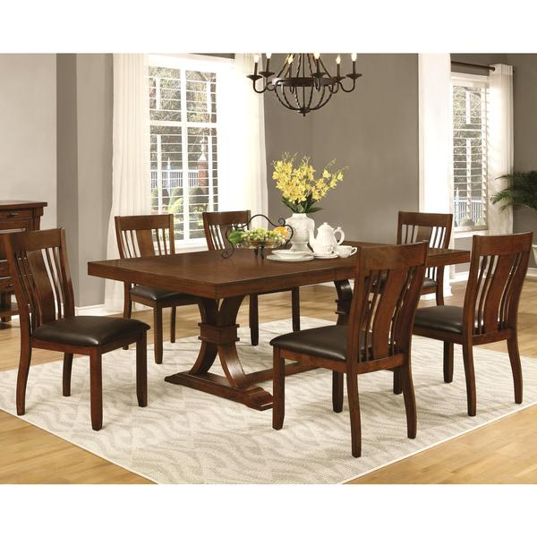 Mission Style Dining Room Furniture: Oxford Transitional Mission Style Dining Set