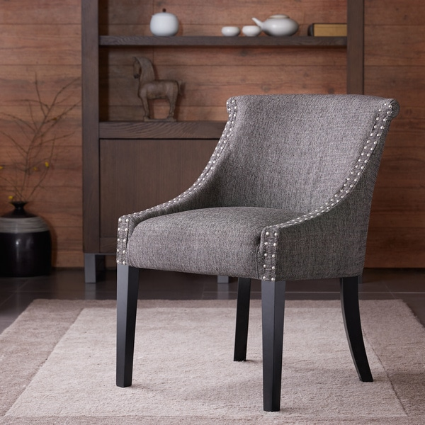 Madison Park Heidi Rounded Roll Back Chair Grey