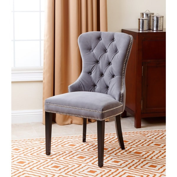 Abbyson Living Versailles Tufted Dining Chair Grey