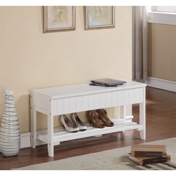 Rennes Solid Wood Shoe Bench With Storage 17895599