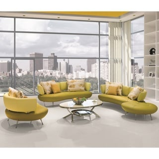 Brilliant 3Adelina 4 Piece Modern Top Grain Leather Sofa Set Best Buy Squirreltailoven Fun Painted Chair Ideas Images Squirreltailovenorg