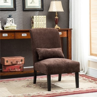 Portfolio Niles Khaki Tan Stripe Armless Accent Chair Set