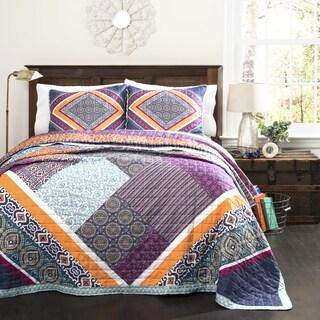 Halifax Cotton 3 Piece Quilt Set 15327199 Overstock
