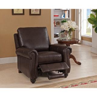 Lazzaro Leather Prato Black And Tan Recliner 18062470