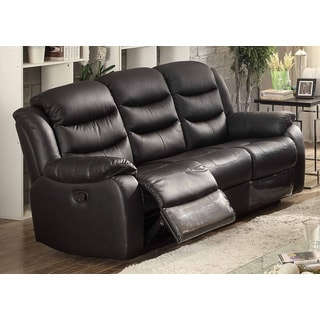 Tribecca Home Eland Black Recliner Drop Down Cupholder