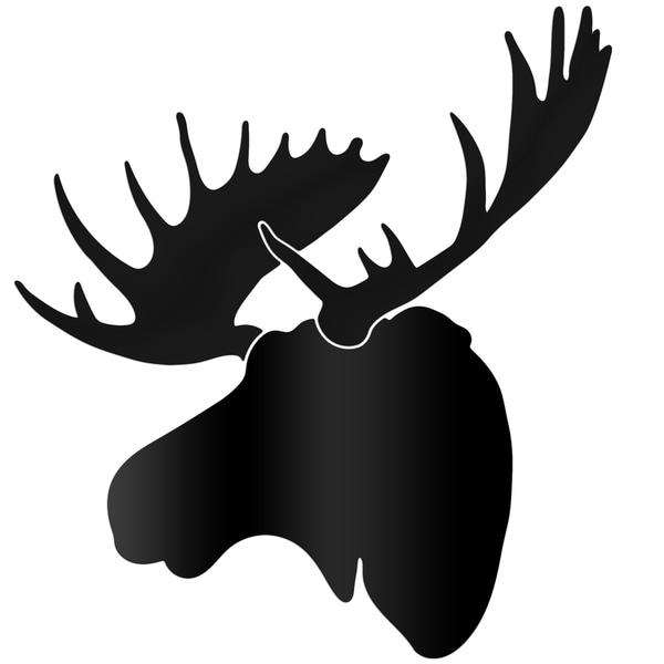 Adam Schwoeppe Midnight Moose Large Black Moose