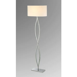 Chrome And Crystal Floor Lamp 14284760 Overstock Com