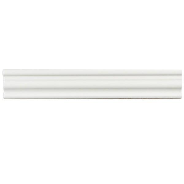 SomerTile 2x12-inch Gloucester Bianco Ceramic Chair Rail