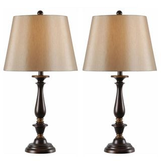 Ostell Rubbed Bronze Twist Base Lamps Set Of 3