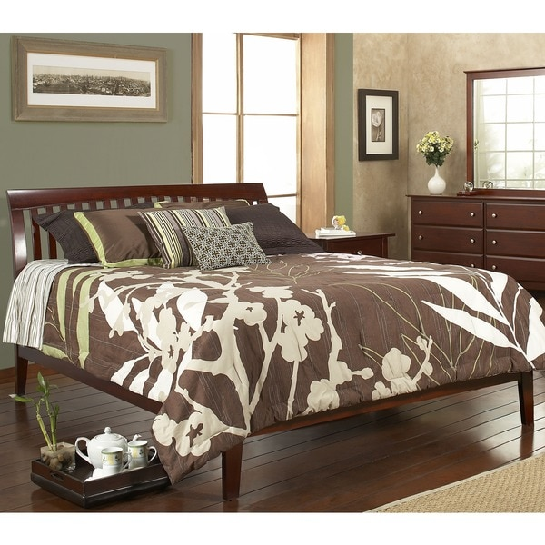 Contemporary Shaker Queen Size Platform Bed 1011221