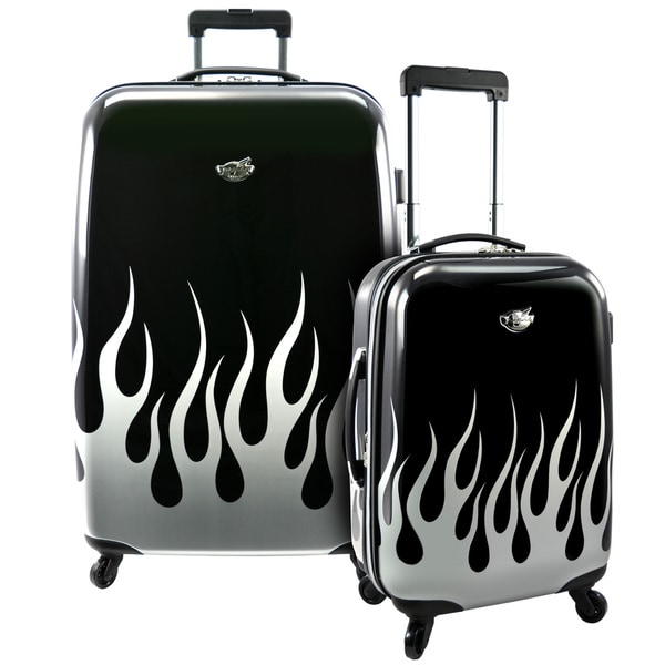 Bret michaels by travelers choice road tour 2 piece expandable hardside spinner luggage set 6045151e 1bcc 4b6d 883b d01d6dee065b 600