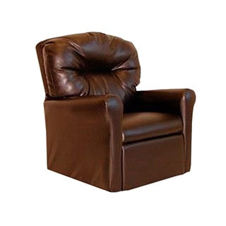 Deluxe Heavily Padded Contemporary Brown Microfiber Kids