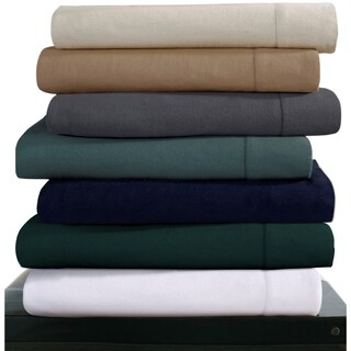 Luxury 200-GSM Cotton Flannel Hemstitched Pillowcases (Set of 2)