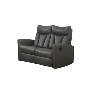 Rialto Charcoal Bonded Leather Loveseat Reviews Deals