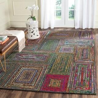 Safavieh Handmade Blossom Charcoal Multi Wool Rug 8 X