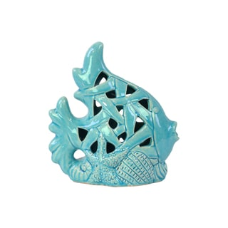 Turquoise Ceramic Fish 16871634 Overstock Com Shopping