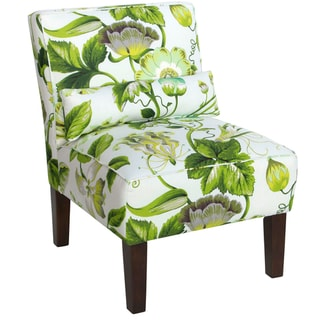 Portfolio Niles Apple Green Modern Floral Armless Accent