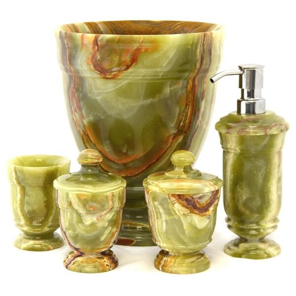 Classic Home Decor Pieces: Nature Home Decor Classic Green Onyx 5-Piece Bathroom