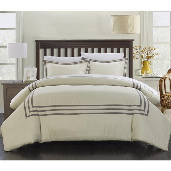 Reviews On Hotel Collection Bedding: Chic Home Palani Modern Hotel Collection Silver 7-piece