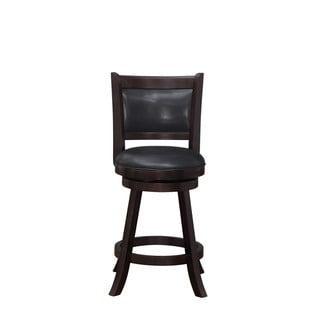 Alexis Cappuccino Padded Back 24 Inch Counter Stool