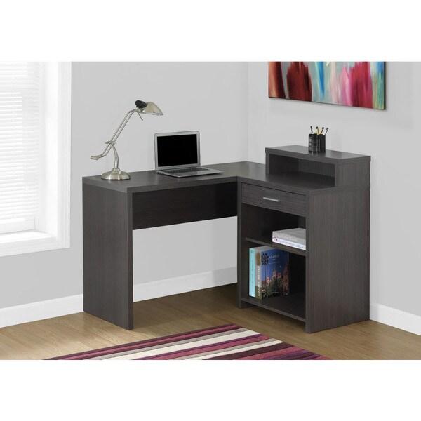 Grey Corner Computer Desk With Storage 17977703