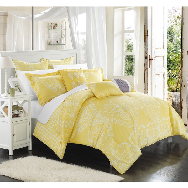 Chic Home Perugia Yellow Oversized Reversible 8-piece