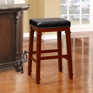 Oh Home 30 Inch Espresso Wood Bar Stool 16554659