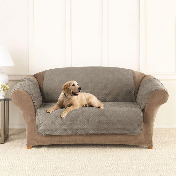 Sure Fit Microfiber Non Slip Loveseat Pet Cover Furniture