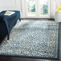 Safavieh Evoke Vintage Oriental Navy Blue/ Gold Distressed Rug - 8' x 10'