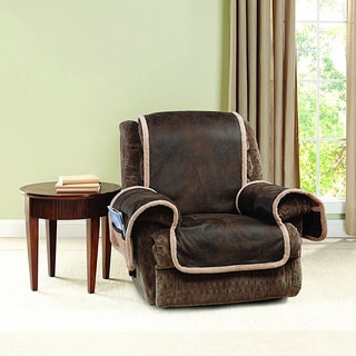 Sure Fit Stretch Polyester Stripe Recliner Slipcover