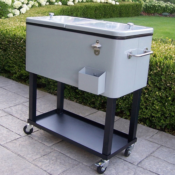 Premium Steel 20 Gallon Party Cooler Cart With Locking