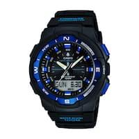 Casio Men's  'Sport Gear' Digital Black Rubber Watch