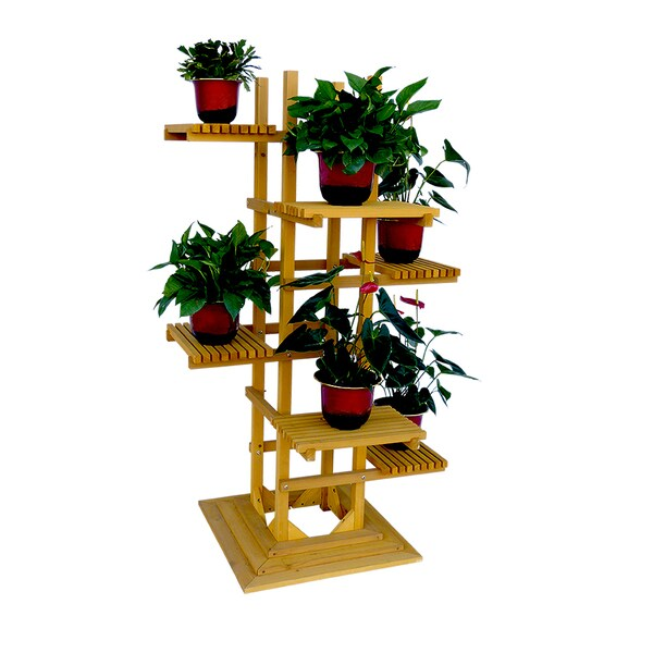 6 Tier Wooden Pedestal Plant Stand 18010050 Overstock