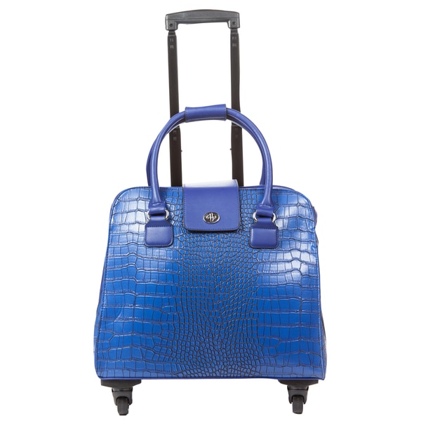 Hang Accessories Blue Crocodile Carry On Rolling Spinner