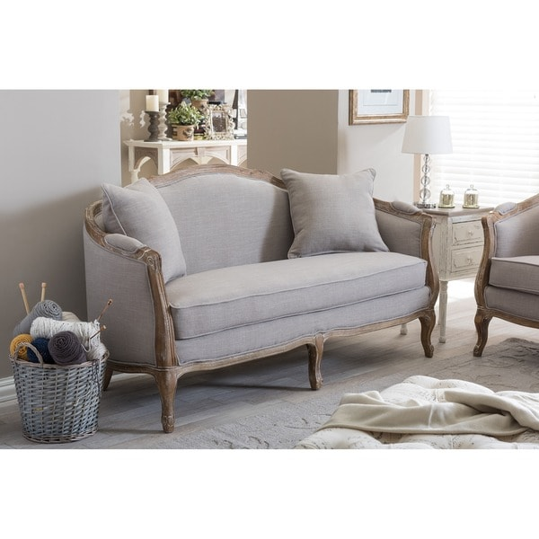Baxton Studio Corneille French Country Weathered Oak Beige