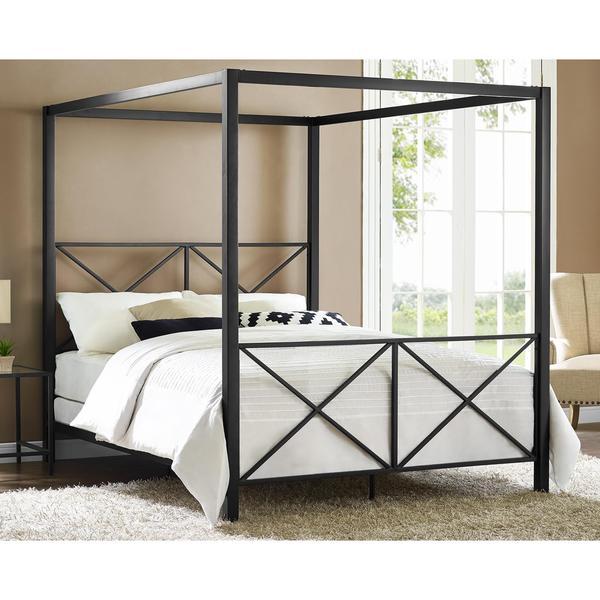 Avenue Greene Rosedale Black Canopy Queen Bed 18025063