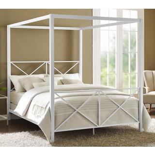 Cara Black Metal Queen Size Canopy Bed 80004030