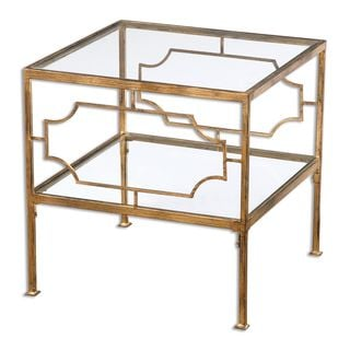 Uttermost Genell Gold Leaf Side Table 15865982