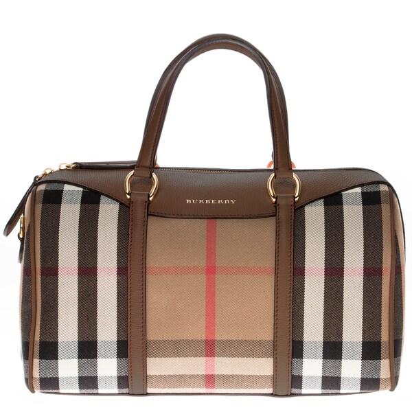 cea82f0e98b Burberry Alchester in House Check and Leather Medium Handbag on ...