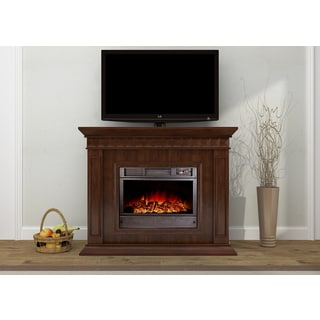 Alessia Black Electric Fireplace 14791142 Overstock