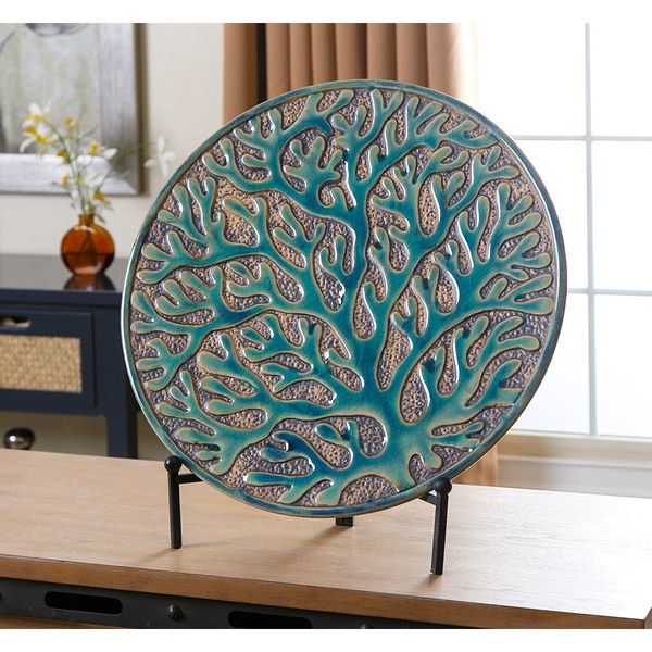 Abbyson Living Coral Charger Plate With Stand 18051252