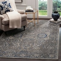 Safavieh Artisan Vintage Dark Grey/ Blue Distressed Area Rug - 5'1 x 7'6