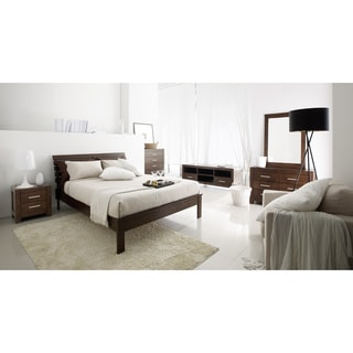 South Shore Olly Mid Century Modern Queen Platform Bed