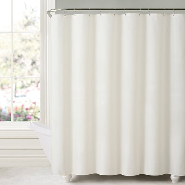 Shop Mildew-free Water-repellent Fabric Shower Curtain Liner - Free ...