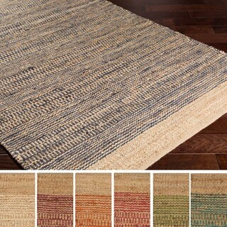 Hand Woven Natural Dyed Jute Rug 5 X 8 18689335