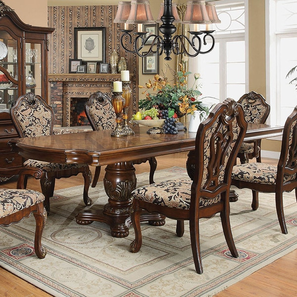 Furniture Of America Mallory Formal Cherry Expandable