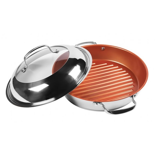 Nuwave 31125 11 Inch Stainless Steel Grill Pan With Lid
